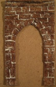 theinfill Medieval, Tudor, Jacobean 1:12 dolls house blog - the infill dolls house blog – egg box stone archway on 1 mm card