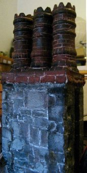 theinfill Medieval, Tudor, Jacobean 1:12 dolls house blog - the infill dolls house blog – chimney looking a little more balanced