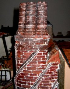 theinfill Medieval, Tudor, Jacobean 1:12 dolls house blog - the infill dolls house blog – pots/chimneys for the the curved one