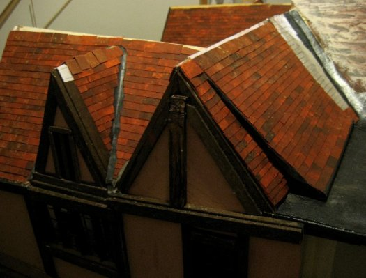 theinfill Medieval, Tudor, Jacobean 1:12 dolls house blog - the infill dolls house blog – various angles to the roof