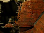theinfill Medieval, Tudor, Jacobean 1:12 dolls house blog - the infill dolls house blog – slope number two of a storm damaged roof 1