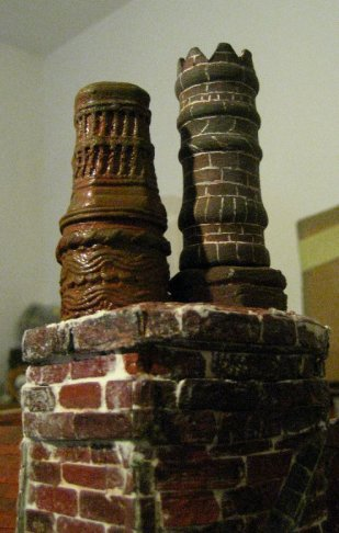 theinfill Medieval, Tudor, Jacobean 1:12 dolls house blog - the infill dolls house blog – comparing lace Dalek to scratch brickwork