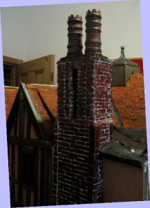 theinfill Medieval, Tudor, Jacobean 1:12 dolls house blog - the infill dolls house blog – new chimney on right side of house
