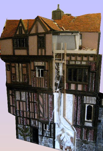 theinfill Medieval, Tudor, Jacobean 1:12 dolls house blog - the infill dolls house blog – right side which needs chimney 1