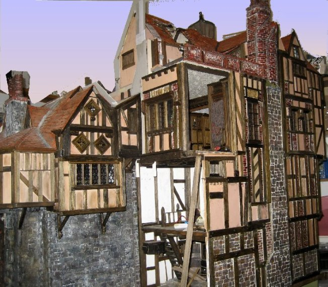 theinfill Medieval, Tudor, Jacobean 1:12 dolls house blog - the infill dolls house blog – left side of house 1