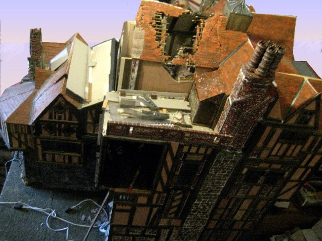 theinfill Medieval, Tudor, Jacobean 1:12 dolls house blog - the infill dolls house blog – left side of house 2