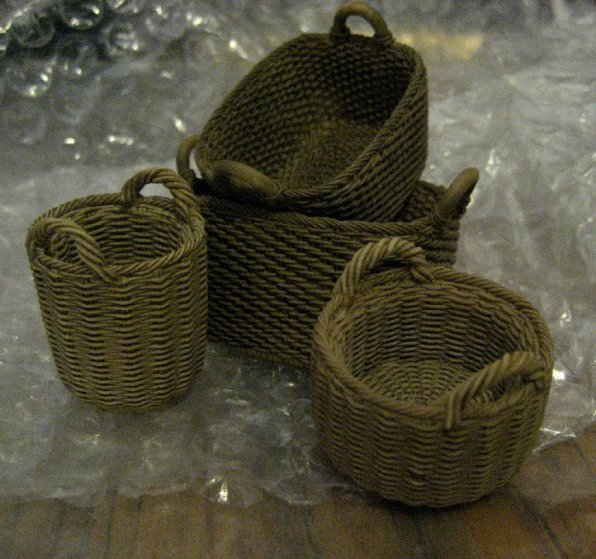 theinfill Medieval, Tudor, Jacobean 1:12 dolls house blog - the infill dolls house blog – detailed resin baskets