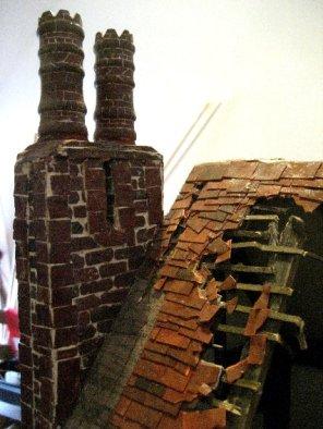 theinfill Medieval, Tudor, Jacobean dolls house blog - the infill dolls house blog – 3rd big chimney stack, egg box bricks