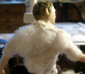 theinfill Medieval, Tudor, Jacobean dolls house blog - theinfill dolls house blog – building up a figure shape