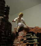 theinfill Medieval, Tudor, Jacobean dolls house blog - theinfill dolls house blog – Trying figures out on the roof