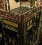 theinfill Medieval, Tudor, Jacobean dolls house blog - theinfill dolls house blog - flat roof with mock lead covering behind balustrade