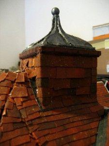 theinfill Medieval, Tudor, Jacobean dolls house blog - the infill dolls house blog – clad cupola on roof
