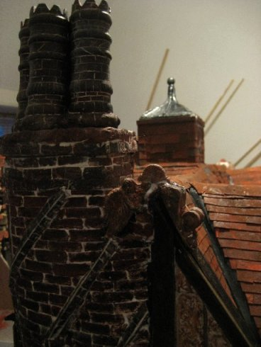theinfill Medieval, Tudor, Jacobean dolls house blog - theinfill dolls house blog – second shelf angel in place