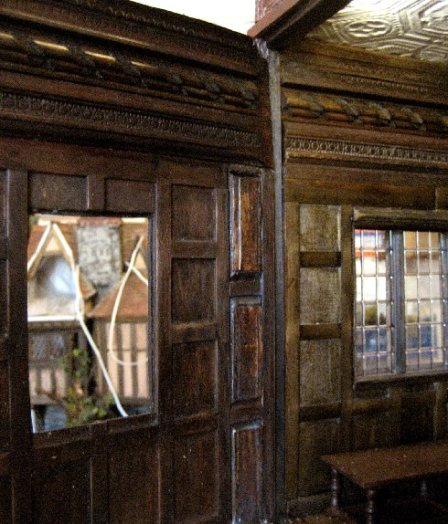 theinfill Medieval, Tudor, Jacobean dolls house blog - theinfill dolls house blog – long gallery multi layered woodwork 3