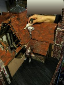 theinfill Medieval, Tudor, Jacobean dolls house blog - theinfill dolls house blog – third try at legs - new posture and probable positioning