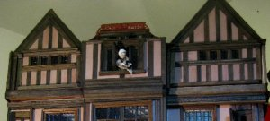 theinfill Medieval, Tudor, Jacobean dolls house blog - Hogepotche Hall –Hodgepodge Hall – two interference fit frontages to side attic rooms