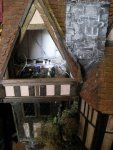 theinfill Medieval, Tudor, Jacobean dolls house blog - Hogepotche Hall –Hodgepodge Hall – electrics hidden in loft
