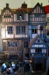 theinfill Medieval, Tudor, Jacobean dolls house blog - Hogepotche Hall –Hodgepodge Hall – Facade straight on view
