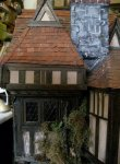 theinfill Medieval, Tudor, Jacobean dolls house blog - Hogepotche Hall –Hodgepodge Hall – electrics hidden in loft covered with removable roof