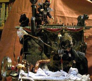 theinfill Medieval, Tudor, Jacobean dolls house blog - Hogepotche Hall –Hodgepodge Hall – steampunk machine