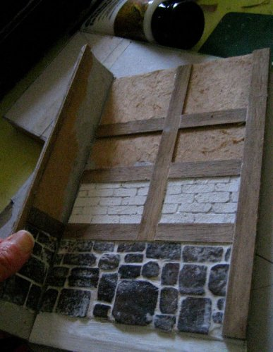 theinfill Medieval, Tudor, Jacobean dolls house blog - Hogepotche Hall –Hodgepodge Hall – walls for a fixed corner of the building