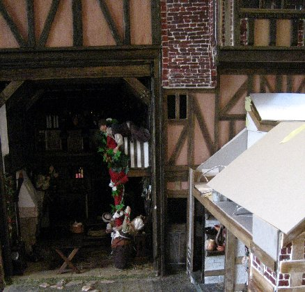 theinfill dolls house blog Hogepotche Hall –Hodgepodge Hall - a Medieval, Tudor, Jacobean dolls house blog - bit of wall with door for kitchen 2