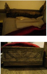 theinfill dolls house blog Hogepotche Hall –Hodgepodge Hall - a Medieval, Tudor, Jacobean dolls house blog - dressing a very small bedroom 2