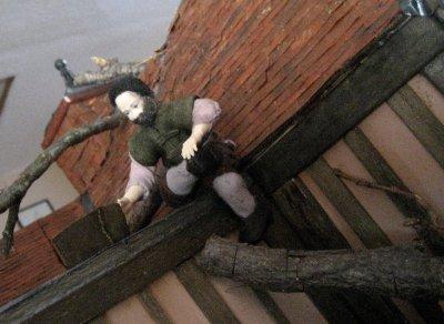 theinfill dolls house blog Hogepotche Hall –Hodgepodge Hall - a Medieval, Tudor, Jacobean dolls house blog - Heidi Ott male figure Sailor Bill