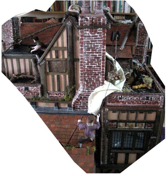 theinfill dolls house blog Hogepotche Hall –Hodgepodge Hall - a Medieval, Tudor, Jacobean dolls house blog - Heidi Ott male figure Sailor Bill in group