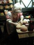 theinfill dolls house blog Hogepotche Hall –Hodgepodge Hall - a Medieval, Tudor, Jacobean dolls house blog - Hannah the bread maker