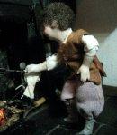 theinfill dolls house blog Hogepotche Hall –Hodgepodge Hall - a Medieval, Tudor, Jacobean dolls house blog - Thomas the griddle scone boy