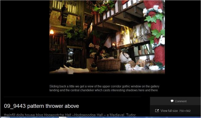 theinfill dolls house blog Hogepotche Hall –Hodgepodge Hall - a Medieval, Tudor, Jacobean dolls house blog - screen cap of gallery Full size link