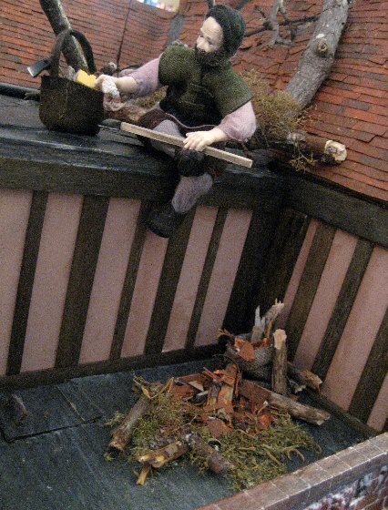 theinfill dolls house blog Hogepotche Hall –Hodgepodge Hall - a Medieval, Tudor, Jacobean dolls house blog - dressing a roof space