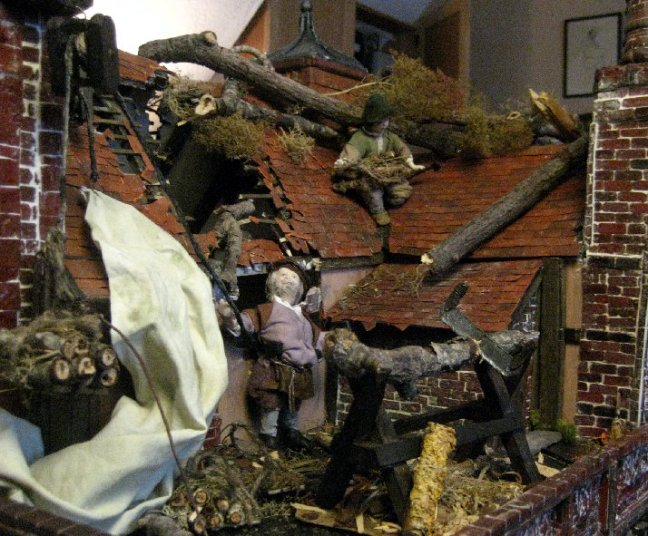 theinfill dolls house blog Hogepotche Hall –Hodgepodge Hall - a Medieval, Tudor, Jacobean dolls house blog - using sea foam and twigs