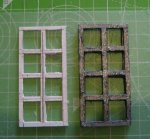 theinfill dolls house blog Hogepotche Hall –Hodgepodge Hall - a Medieval, Tudor, Jacobean dolls house blog - reshaping an Art Deco house -windows for the front