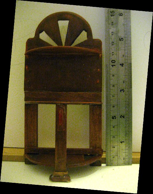 theinfill dolls house blog Hogepotche Hall –Hodgepodge Hall - a Medieval, Tudor, Jacobean dolls house blog - reshaping an Deco house -shelves into a hall stand
