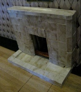 and sides contrast tiled with long lengths - you can see the gap at the join here too