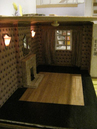 theinfill dolls house blog Hogepotche Hall –Hodgepodge Hall - a Medieval, Tudor, Jacobean dolls house blog - reshaping an Deco house - sitting room coving and ceiling