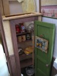 theinfill art deco dolls house blog, theinfill dolls house blog, theinfill 1930s-50s Deco House, Hogepotche Hall –Hodgepodge Hall - Medieval Tudor Jacobean dolls house blog - kitchen set up going on