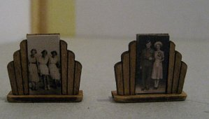 theinfill art deco dolls house blog, theinfill dolls house blog, theinfill 1930s-50s Deco House, Hogepotche Hall –Hodgepodge Hall - Medieval Tudor Jacobean dolls house blog - photo frames for dining room