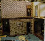 theinfill art deco dolls house blog, theinfill dolls house blog, theinfill 1930s-50s Deco House, Hogepotche Hall –Hodgepodge Hall - Medieval Tudor Jacobean dolls house blog - upper landing space
