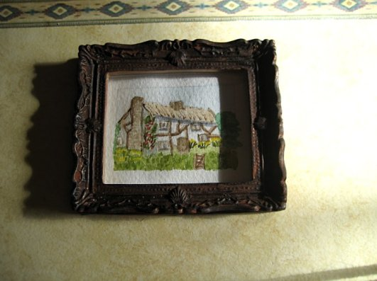 theinfill art deco dolls house blog, theinfill dolls house blog, theinfill 1930s-50s Deco House, Hogepotche Hall –Hodgepodge Hall - Medieval Tudor Jacobean dolls house blog - miniature watercolour painting