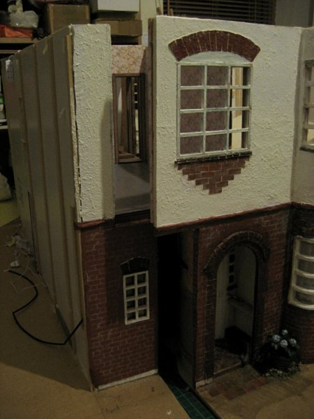 theinfill art deco dolls house blog, theinfill dolls house blog, theinfill 1930s-50s Deco House, Hogepotche Hall –Hodgepodge Hall - Medieval Tudor Jacobean dolls house blog - bedrooms and meeting walls