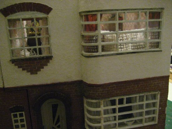 theinfill art deco dolls house blog, theinfill dolls house blog, theinfill 1930s-50s Deco House, Hogepotche Hall –Hodgepodge Hall - Medieval Tudor Jacobean dolls house blog - external cladding