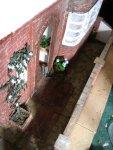 theinfill art deco dolls house blog, theinfill dolls house blog, theinfill 1930s-50s Deco House, Hogepotche Hall –Hodgepodge Hall - Medieval Tudor Jacobean dolls house blog - garden wall and street