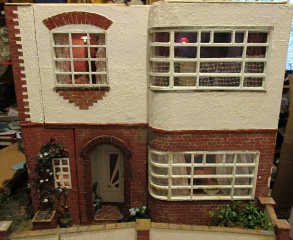 theinfill art deco dolls house blog, theinfill dolls house blog, theinfill 1930s-50s Deco House, Hogepotche Hall –Hodgepodge Hall - Medieval Tudor Jacobean dolls house blog - ceilings and roofing