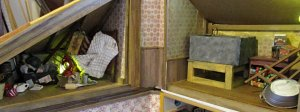 theinfill art deco dolls house blog, theinfill dolls house blog, theinfill 1930s-50s Deco House, Hogepotche Hall –Hodgepodge Hall - Medieval Tudor Jacobean dolls house blog - attic #3 water tank
