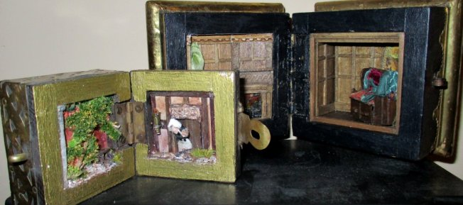 theinfill art deco dolls house blog, theinfill dolls house blog, theinfill 1930s-50s Deco House, Hogepotche Hall –Hodgepodge Hall - Medieval Tudor Jacobean dolls house blog - box project