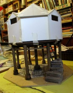 theinfill blog, theinfill dolls house blog, theinfill 1930s-50s Deco House, Hogepotche Hall – Dolls House Emporium Market Cross kit
