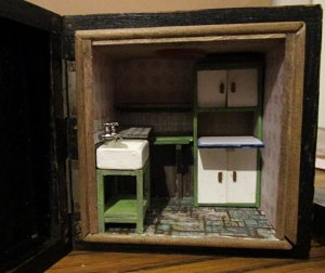 theinfill blog, theinfill dolls house blog, theinfill 1930s-50s Deco House, Hogepotche Hall – 1:24 box scene project